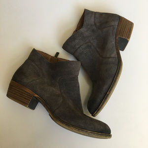 """Lucky Brand Brown Suede """"Brolley"""" Bootie 7.5"""